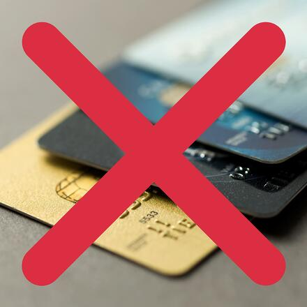 Cannabis payments can't (legally) include credit cards.